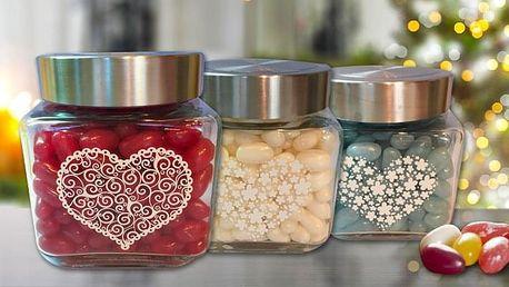 Půlkilové balení bonbónů Jelly Beans v dárkové dóze