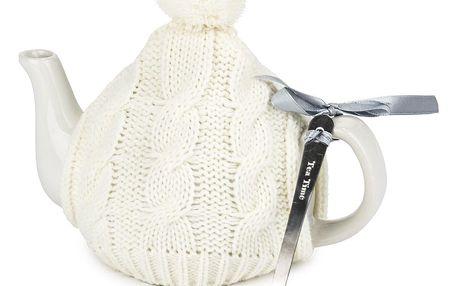 Dárková sada Tea Time, bílá