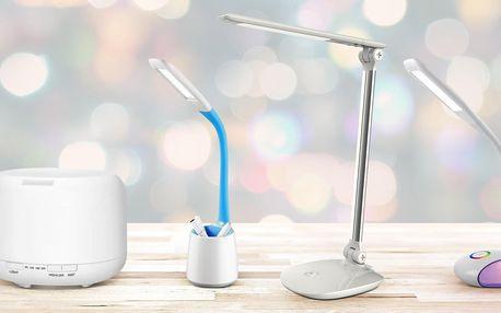 Stolní LED lampičky s difuzérem i USB portem