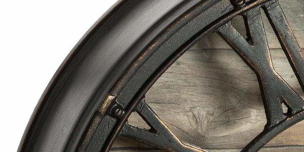 Atmosphera Hodiny s dřevěným ciferníkem, užitečná a stylová dekorace na zeď ve stylu vintage2