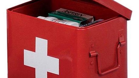 Skříňka na léky v červené barvě, 22 x 16 x 16 cm, ZELLER