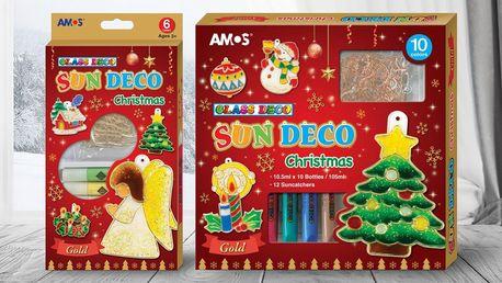 Barvy na sklo a sklíčka na výrobu vánočních ozdob
