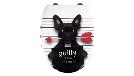 WC prkénko s mechanismem Easy-Close, GUILTY DOG, WENKO