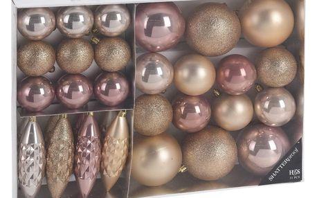 Koopman Sada vánočních ozdob Soverato zlatá, 31 ks
