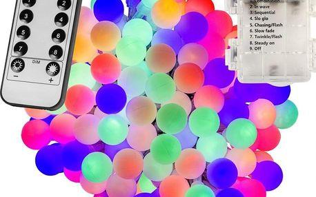VOLTRONIC® 67315 Párty osvětlení - 20 m, 200 LED diod, barevné, na baterie