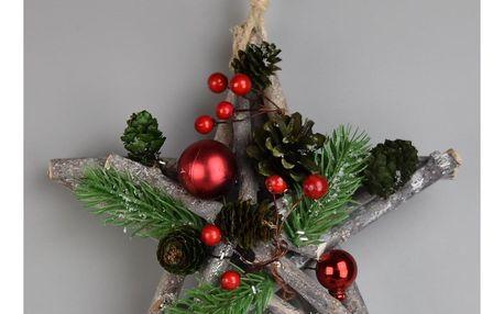 Vánoční závěsná hvězda Green pine, 20 cm