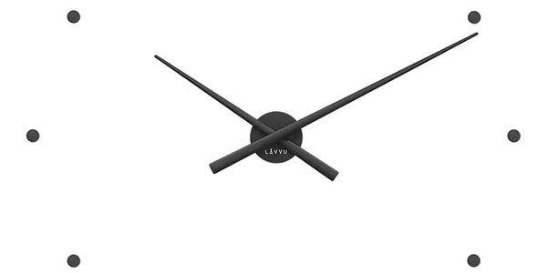 LCT1021 Nástěnné hodiny LAVVU 3D STICKER BLACK Dots, černá