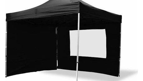 Garthen PROFI 6352 Zahradní párty stan nůžkový 3x3 m černý + 4 boční stěny