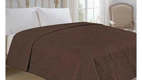 Jahu Přehoz na postel Royal hnědá, 220 x 240 cm