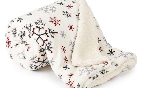 4Home Beránková deka Snowflakes, 150 x 200 cm