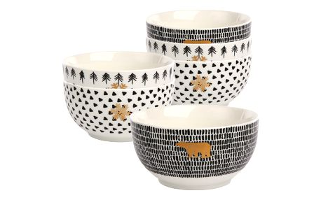 Altom Sada porcelánových misek Nordic Winter 12,5 cm, 6 ks