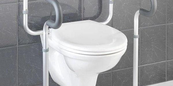 Hliníková ochranná podpěra na WC SECURA, 71 - 81,5x55,5x48 cm, WENKO2