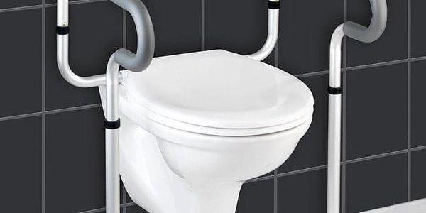 Hliníková ochranná podpěra na WC SECURA, 71 - 81,5x55,5x48 cm, WENKO3