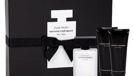 Narciso Rodriguez Pure Musc dárková kazeta pro ženy parfémovaná voda 50 ml + sprchový gel 75 ml + tělové mléko 75 ml