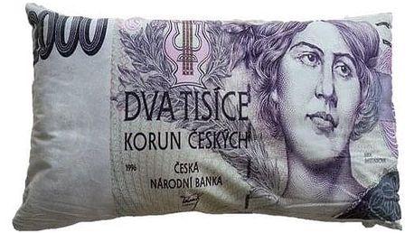 JAHU Dekorační polštář bankovka - 2000 Kč