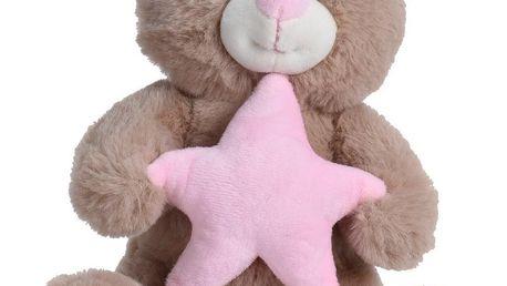 Koopman Plyšový medvídek s hvězdou, 23 cm