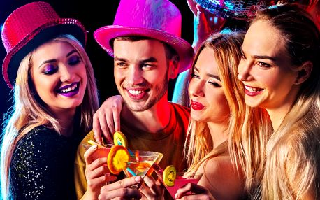 Vstup do Retro disco klubu a 1 ze 4 drinků