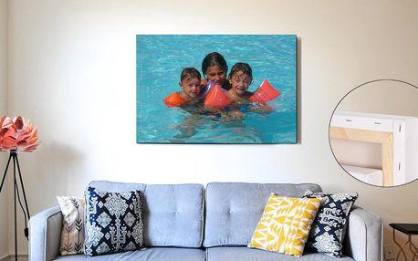 Fotoobraz na rámu z masivního dřeva a strukturovaném plátně