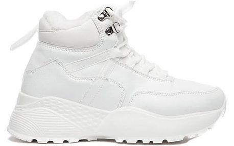 Dámské bílé kotníkové boty Nairi 036