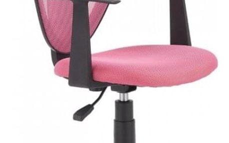 Dětská otočná židle STRAKOŠ Spike - růžová