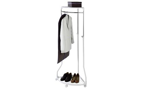 Rohový věšák na šaty - věšák na kolečkách, WENKO