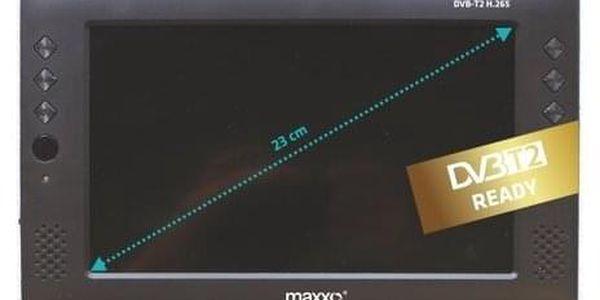 Maxxo Mini TV HD - T2 HEVC/H.265 přenosný televizor2