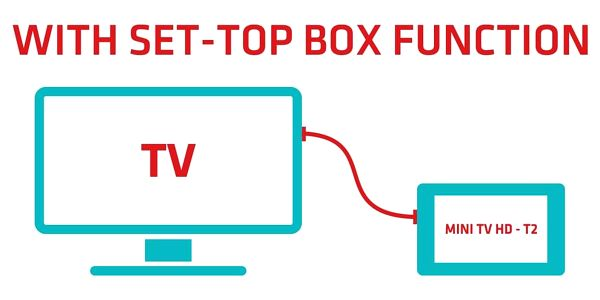 Maxxo Mini TV HD - T2 HEVC/H.265 přenosný televizor3