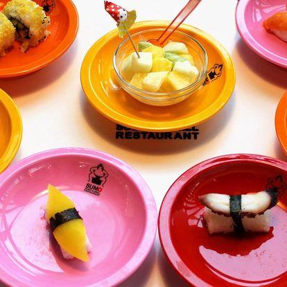 2 hod. neomezené konzumace running sushi v Hradci
