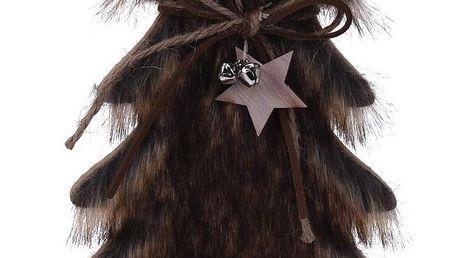 Koopman Vánoční dekorace Hairy tree tmavě hnědá, 28 cm
