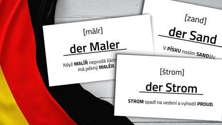 Jazykové kartičky Mnemory: naučte se německy