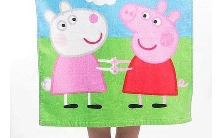 Jerry Fabrics Dětské pončo Peppa Pig 013, 55 x 115 cm