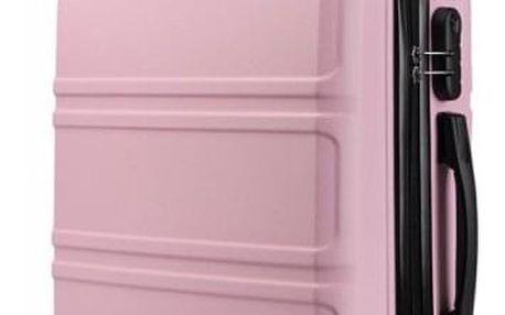 Cestovní kabinový růžový kufr Voyage 1871