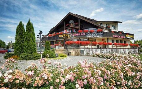Beskydy v Hotelu Eroplán **** u turistických stezek s polopenzí, wellness a Rožnov Card