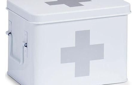Kovová lékárnička v bílé barvě, 4přihrádkí, 22 x 16 x 16, ZELLER