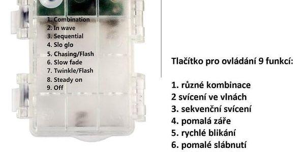 VOLTRONIC® Párty osvětlení - 5 m, 50 LED diod, studeně bílé, na baterie2
