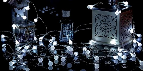 VOLTRONIC® Párty osvětlení - 5 m, 50 LED diod, studeně bílé, na baterie4