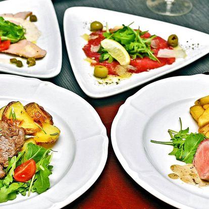Degustační menu pro 2 ve středomořské restauraci
