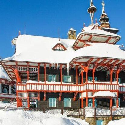 Beskydy jen 15 minut od Pusteven a u skiareálů v Chatě Barborka s polopenzí