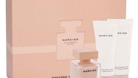 Narciso Rodriguez Narciso Poudree dárková kazeta pro ženy parfémovaná voda 50 ml + sprchový krém 75 ml + tělové mléko 75 ml