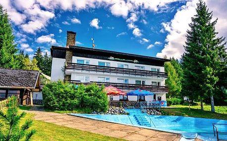 Jaro a léto na Šumavě v Hotelu Kolibřík s polopenzí a venkovním bazénem