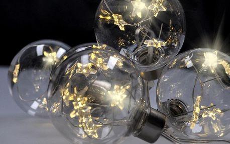 Solight Světelný řetěz s 6 koulemi pr. 6 cm, 2 m