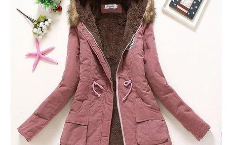 Dámská zimní bunda Jane - Tmavě růžová-velikost č. S - dodání do 2 dnů