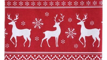 Home Styling Collection Vánoční ubrus červený, 140 x 180 cm