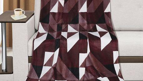 Bellatex KEMPING PLUS Hnědé trojúhelníky, 150 x 200 cm
