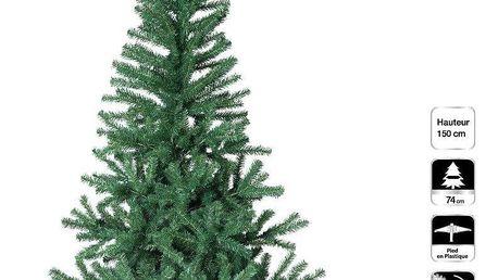 Fééric Lights and Christmas Umělý vánoční stromek na plastovém stánku, zelená, 150 cm