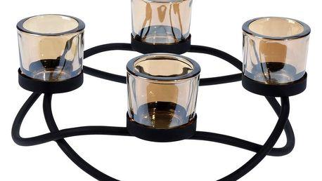 Home Styling Collection Svícen, 4 pro tealighty, Černá barva