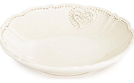 Keramický hluboký talíř Srdce 20,6 cm