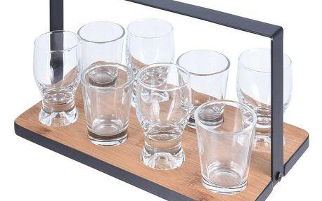 Koopman Servírovací podnos se skleničkami, 9 ks