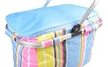 Termo skládací nákupní košík s víkem modrý