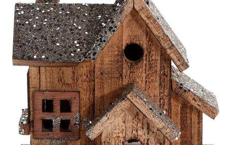Home Styling Collection Dřevěný dům LED vánoční dekorace, 20 cm